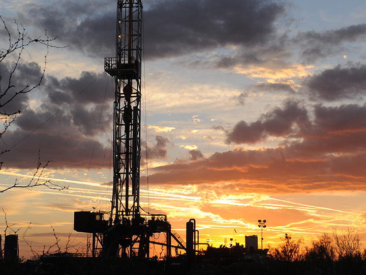 Rig at sunset
